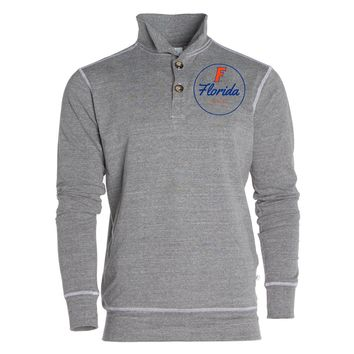 Official NCAA University of Florida Gators The Orange and Blue GATOR NATION! Women's Unisex 1/4 Button Pullover