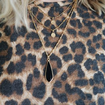 Say Goodbye Necklace: Gold/Black