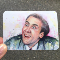Nicolas Cage Meme STICKERS; You Don't Say? Durable Vinyl Weatherproof Funny Geek Stickers