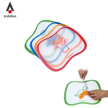 Wulekue 1Pcs PVC Flexible Plastic Chopping Block Cutting Board Non-slip Frosted Kitchen Tools For Fruit Vegetable Meat