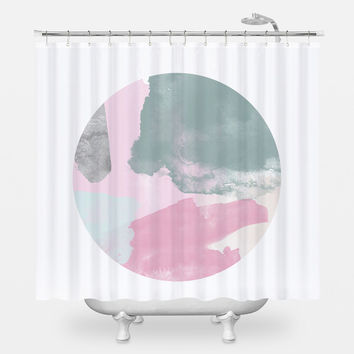 80s Pink Shower Curtain