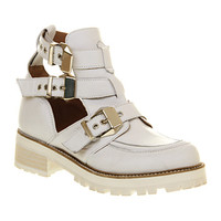 Office Ultimate White Leather - Ankle Boots