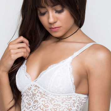 Misty Lace Bralette - White