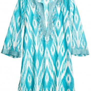 Hester Blue Skies Printed Cotton Tunic | Calypso St. Barth