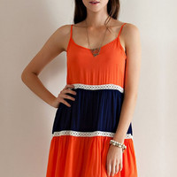 Gator Girl Dress - Orange/Blue