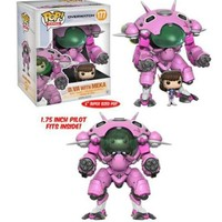"Funko Pop Games 177 Overwatch 6"" D.va With Meka Vinyl Figure Set Error A101V"