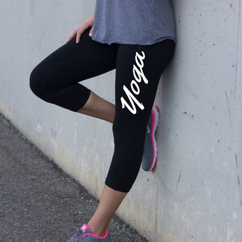 Ladies Black Training Leggings Yoga