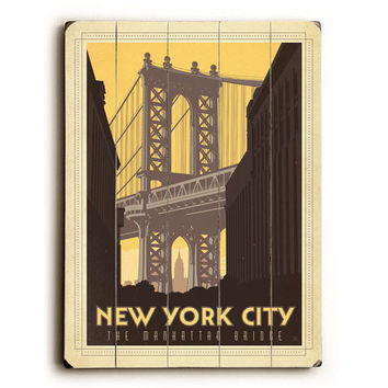 New York City by Anderson Design Group Wood Sign