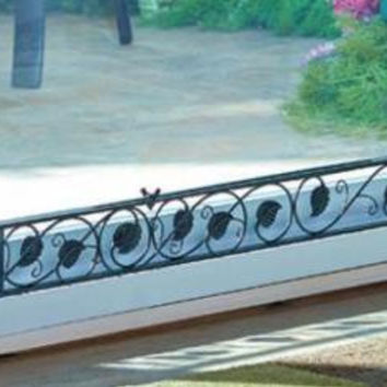 Patio Slider Door Stopper Metal Expandable Security Lock Stop Decorative Leaves