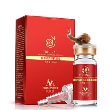 DCCKL72 High Quality Snail 100% pure plant extract Hyaluronic acid liquid whitening blemish serum ampoules anti-acne Rejuvenation Serum