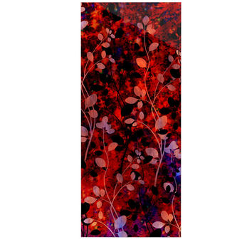 "Ebi Emporium ""Amongst the Flowers - Summer Nights"" Red Black Luxe Rectangle Panel"