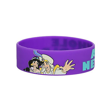 Disney Aladdin Whole New World Rubber Bracelet | Hot Topic