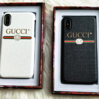 Gucci : print phone shell phone case for Iphone 6/6S/6P/6SP/7P/7/8/8P/X[Hard cortex]