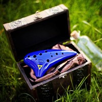 12 Hole Plastic Tenor Ocarina with Zelda Songbook