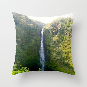 Akaka Falls Throw Pillow by Kelli Schneider