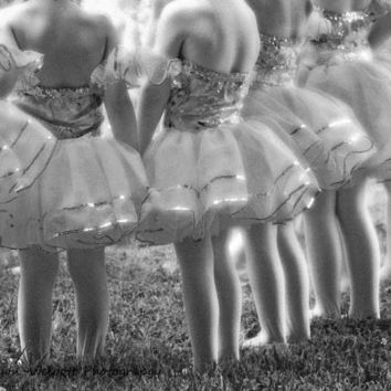 Ballerina Art Print black and white photograph Little Ballerina's 24x36  Large Wall Print featured on House of Turquoise
