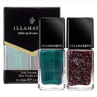 Illamasqua Nail Varnish Duo, Glitterati and Viridian Full Size