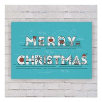 Decorative Merry Christmasgn Poster