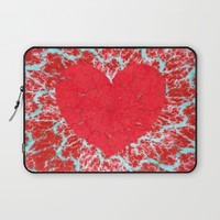 Winter heart. Valentine's day love confession Laptop Sleeve by Natalia Bykova | Society6