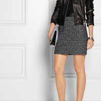 Proenza Schouler | Leather-trimmed tweed mini skirt | NET-A-PORTER.COM