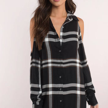 Mad About Plaid Shift Dress