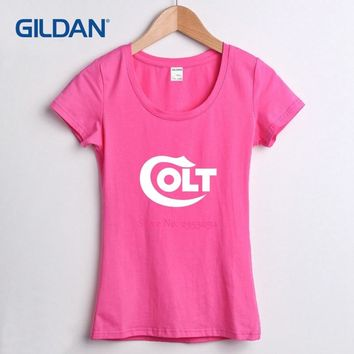 Tee Shirt Women 2018 D Custom Centennial Colt 1911 Gun Women's T Shirt Sale Online Summer Custom Printed T-Shirt Clothes