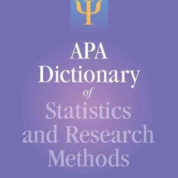 APA Dictionary of Statistics and Research Methods