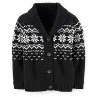 Shawl Collar Fair Isle Cardigan