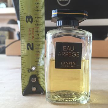 Vintage Women's Perfume Lanvin Eau Arpege 1 2/3 oz Splash Bottle