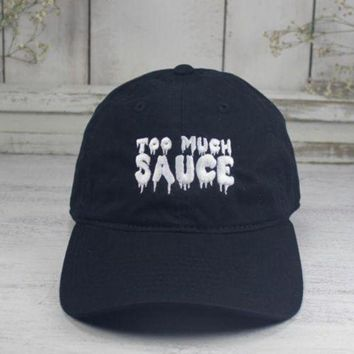 DCCKIJ2 Too Much Sauce Dad Hat