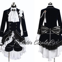Black Butler Cosplay Ciel Phantomhive Dark Blue Costume - Custom made in Any size