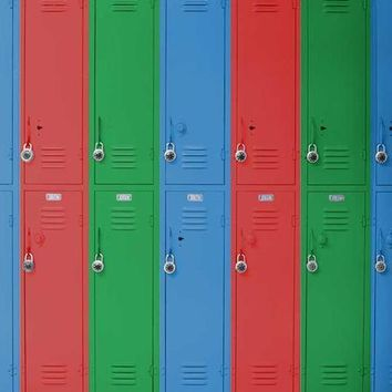 LOCKERS RED GREEN BLUE TITANIUM CLOTH BACKDROP - 5x6 - LCTC1518 - LAST CALL