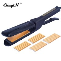 3 in 1 Corrugated Hair Straightener Flat Iron Styling Tool Hair Crimper Fluffy Corn Wave Hair Curler Professional Curling Iron34