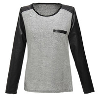 'The Kaniya' PU Leather Long Sleeve Shirt