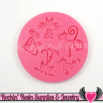 CATS SILICONE MOLD, Food Grade, Flexible