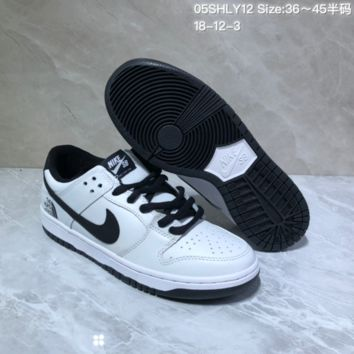 DCCK N900 Nike SB x The North Face Low Leather Skate Shoes White Black