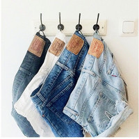 I Looooooove My Bootylicious Baby Cake Levis Shorts - (All Sizes And Colors Available) Acidwash Blue and Black, Bleached Blue, Medium Blue