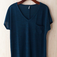 Oh So Cozy Tee, Deep Turquoise