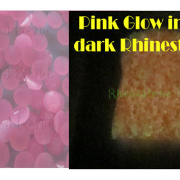Light Pink Glow In The Dark Rhinestones, 4mm, ss16, Flat Back, DIY projects