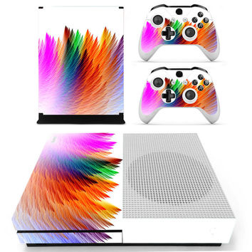 Vinyl Decal Protective Decal Cover / Designer Skin Sticker For XBOX ONE S Gaming Console+2 Controller Multi Color Series