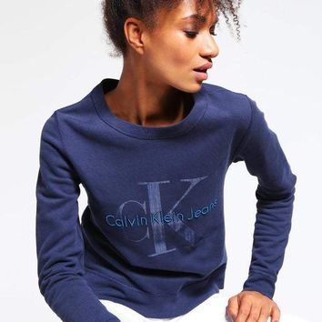 ESBONN Calvin klein Long Sleeve Pullover Sweatshirt Top Sweater Hoodie
