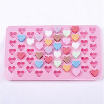 55 Silicone Heart Cake Chocolate Cookies Baking Mould DIY Ice Cube Mold Tray LS