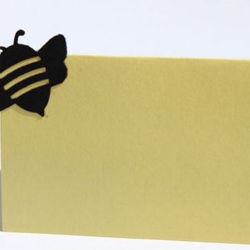 Bee Place Cards- Baby Shower, Birthday Party, Bridal Shower