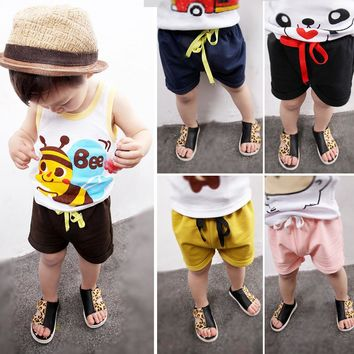 Summer Shorts Kids Girl Shorts For Baby Boys Toddler Kids Clothes 2Y-6Years
