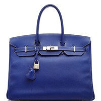 Heritage Auctions Special Collection Limited Edition Hermes 35Cm Blue