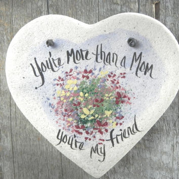 Heart Salt Dough Ornament / Mother's Day / Birthday for Mom