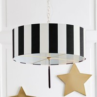 The Emily & Meritt Awning Stripe Drum Pendant