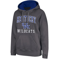 Kentucky Wildcats Arch & Logo Mascot Pullover Hoodie - Charcoal