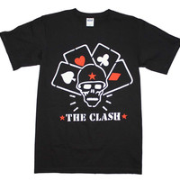 Men's Rock T-Shirt - The Clash Straight to Hell Cards
