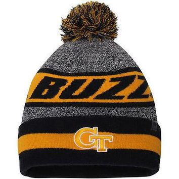 Georgia Tech Yellow Jackets Top of the World Cumulus Cuffed Knit Hat With Pom
